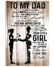 To My Dad Girl Love Your Daughter 11x17 Poster front