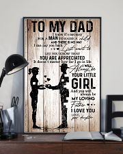 To My Dad Girl Love Your Daughter 16x24 Poster lifestyle-poster-2