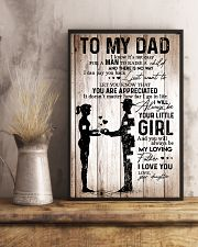 To My Dad Girl Love Your Daughter 16x24 Poster lifestyle-poster-3
