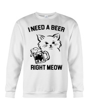 I Need A Beer Right Meow Crewneck Sweatshirt thumbnail