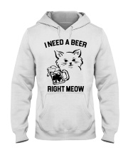 I Need A Beer Right Meow Hooded Sweatshirt thumbnail