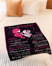 "To My Daughter Today Is A Good Day Small Fleece Blanket - 30"" x 40"" aos-coral-fleece-blanket-30x40-lifestyle-front-01"