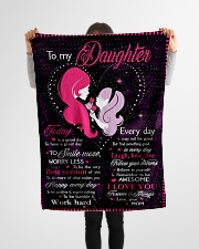 "To My Daughter Today Is A Good Day Small Fleece Blanket - 30"" x 40"" aos-coral-fleece-blanket-30x40-lifestyle-front-14"