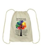 And I Think To Myself What A Wonderful World Drawstring Bag thumbnail