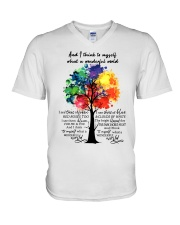And I Think To Myself What A Wonderful World V-Neck T-Shirt thumbnail