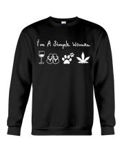 I'm Simple Woman Crewneck Sweatshirt thumbnail