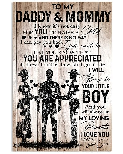 To My Daddy Mommy - I Love You - Your Son