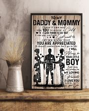 To My Daddy Mommy - I Love You - Your Son 11x17 Poster lifestyle-poster-3