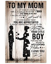 To My Mom - I Love You - Your Son 11x17 Poster front