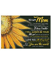 To MY Mom 17x11 Poster front