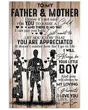 To My Father Mother - I Love You - Your Son 11x17 Poster front