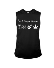 I'm Simple Woman Wine Dog W Sleeveless Tee thumbnail