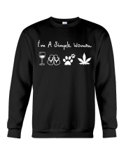 I'm Simple Woman Wine Dog W Crewneck Sweatshirt thumbnail