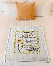 """To My Daughter Never Forget That I Love You Small Fleece Blanket - 30"""" x 40"""" aos-coral-fleece-blanket-30x40-lifestyle-front-04"""