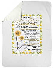 """To My Daughter Never Forget That I Love You Large Sherpa Fleece Blanket - 60"""" x 80"""" thumbnail"""