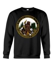 Go Outside Worst Case Scenario A Bear Kills You Crewneck Sweatshirt thumbnail