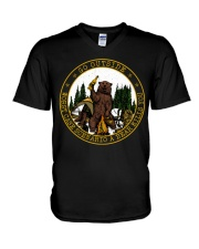 Go Outside Worst Case Scenario A Bear Kills You V-Neck T-Shirt thumbnail