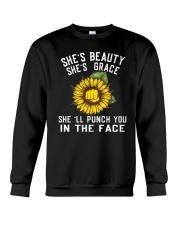 She's Beauty She's Grace Crewneck Sweatshirt thumbnail