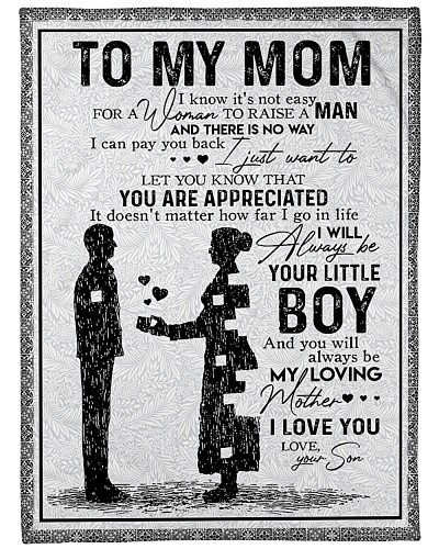 To My Mom - I Love You - Your Son - Blanket