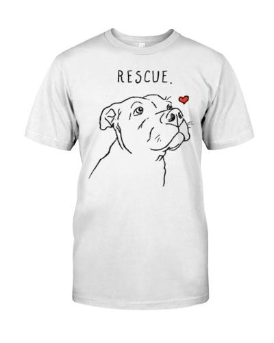 RESCUE DOG PITBULL DRAWING