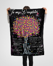 "To My Daughter I Want You To Believe Small Fleece Blanket - 30"" x 40"" aos-coral-fleece-blanket-30x40-lifestyle-front-14"