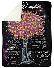 "To My Daughter I Want You To Believe Large Sherpa Fleece Blanket - 60"" x 80"" thumbnail"