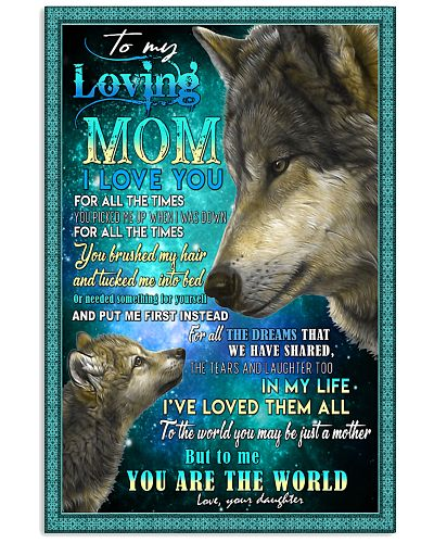 To My Loving Mom Wolves Poster