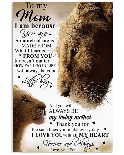 To My Mom Little Boy Son Lion Poster