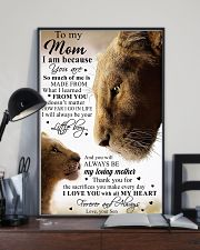 To My Mom Little Boy Son Lion Poster 16x24 Poster lifestyle-poster-2