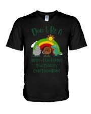 Don't Be A Hippo Twatamus Twatwaffle Cuntasaurus V-Neck T-Shirt thumbnail