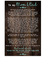 To My Mom Dad Wood 11x17 Poster front