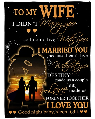 To My Wife I Didn't Marry You