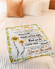 """To My Mom Sunflower Small Fleece Blanket - 30"""" x 40"""" aos-coral-fleece-blanket-30x40-lifestyle-front-01"""