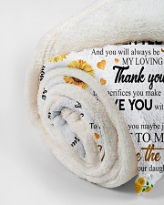 """To My Mom Sunflower Small Fleece Blanket - 30"""" x 40"""" aos-coral-fleece-blanket-30x40-lifestyle-front-18"""