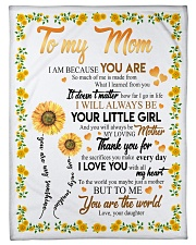 """To My Mom Sunflower Small Fleece Blanket - 30"""" x 40"""" front"""