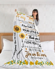 """To My Mom Sunflower Large Fleece Blanket - 60"""" x 80"""" aos-coral-fleece-blanket-60x80-lifestyle-front-11"""