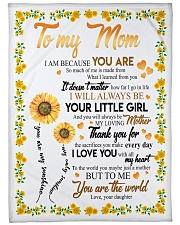 "To My Mom Sunflower Large Fleece Blanket - 60"" x 80"" thumbnail"