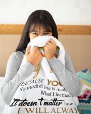 "To My Mom Sunflower Large Sherpa Fleece Blanket - 60"" x 80"" aos-sherpa-fleece-blanket-60x80-lifestyle-detail-front-14"