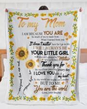 "To My Mom Sunflower Large Sherpa Fleece Blanket - 60"" x 80"" aos-sherpa-fleece-blanket-60x80-lifestyle-front-23"
