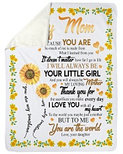 """To My Mom Sunflower Large Sherpa Fleece Blanket - 60"""" x 80"""" front"""
