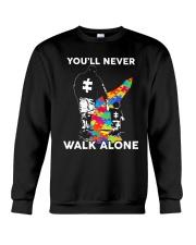 Autism Dad Son Crewneck Sweatshirt thumbnail
