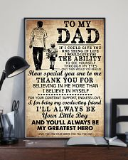 To My Dad If I Could Give You One Thing 11x17 Poster lifestyle-poster-2