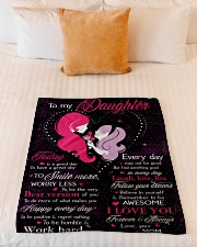 "To My Daughter Today Is A Good Day Small Fleece Blanket - 30"" x 40"" aos-coral-fleece-blanket-30x40-lifestyle-front-04"
