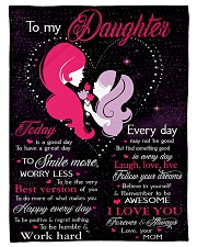 "To My Daughter Today Is A Good Day Small Fleece Blanket - 30"" x 40"" front"