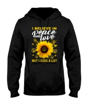 I Belive In Peace And Love Hooded Sweatshirt thumbnail