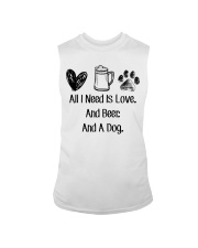 All I Need Is Love And Beer And A Dog Sleeveless Tee thumbnail