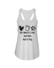 All I Need Is Love And Beer And A Dog Ladies Flowy Tank thumbnail