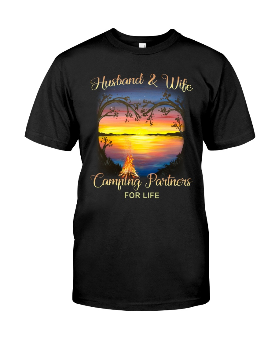 Husband And Wife Camping Partners For Life Classic T-Shirt