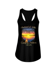 Husband And Wife Camping Partners For Life Ladies Flowy Tank thumbnail