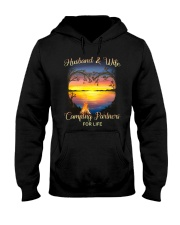 Husband And Wife Camping Partners For Life Hooded Sweatshirt thumbnail